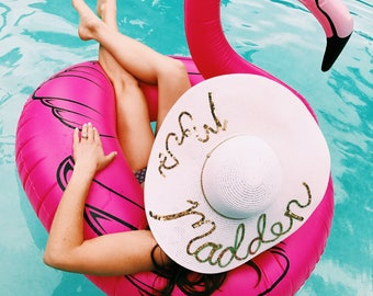 Customizable Honeymoon Women's Floppy Sun Hat