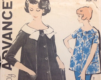 Advance 9576 Maternity Top // Skirt Vintage Sewing Pattern (1950s) Misses Size 12