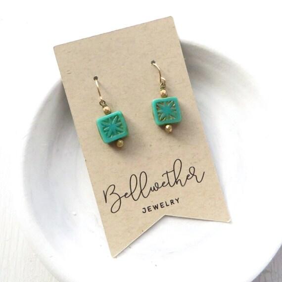 Dainty Earrings - Turquoise