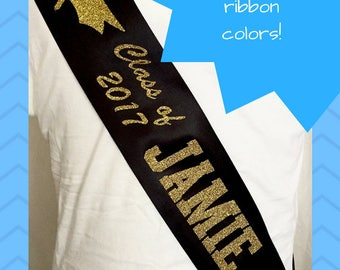 Graduation Sash with Cap - Class of 2017