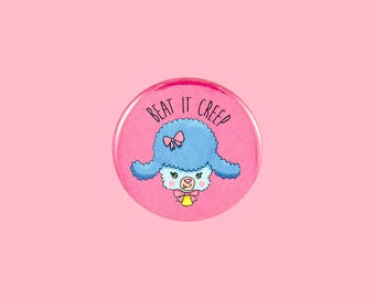 beat it creep lamb button | 2.25 inch pin back button