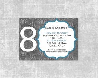 Gray Arrow Birthday Invitation