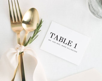 Urban Glamour Place Cards - Deposit