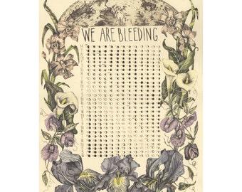 2017 We Are Bleeding Moon Menstrual Calendar
