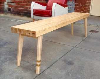 Reclaimed Bowling Alley Bench Seat