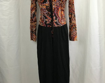 Vintage 1970's Slit Dress with Matching Hot Pants