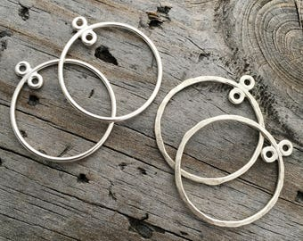 Sterling Silver Hoop Chandelier 1 or 3/4 inch Earring Component Jewelry Supplies