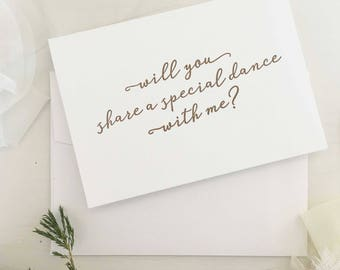 Daddy Daughter Dance Card Wedding Will You Share A Special With