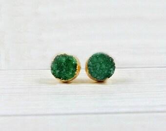 Druzy Stud Earrings, Druzy Studs, Druzy Earrings, Druzy Post Earrings, Druzy Gemstone Earrings, Sparkly Druzy Earrings, Gold Druzy Studs