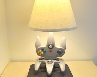 Nintendo N64 Lamp - Console and Controllers - N64 Light Sculpture With Lamp Shade