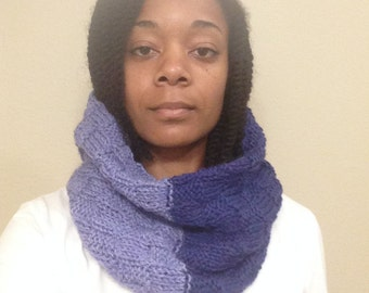 Two Tone Purple Cowl