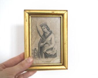 Antique print// Ste Catherine print