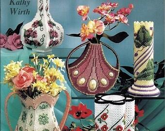 Vases Plastic Canvas Pattern Book American School of Needlework 3161