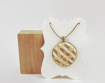 Pendant Necklace, Button Necklace, Fabric Necklace, Magnetic Necklace