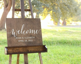 Welcome wedding sign, Wooden Welcome Sign, Wedding welcome sign, Welcome sign Wedding, Welcome sign for wedding, Wood Welcome Sign, Wood