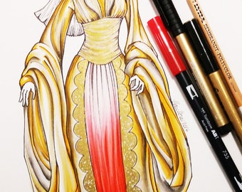 MADE TO ORDER Princess Nuala inspired replica, Elf Princess Nuala of the Bethmoora Clan, Hellboy the golden army