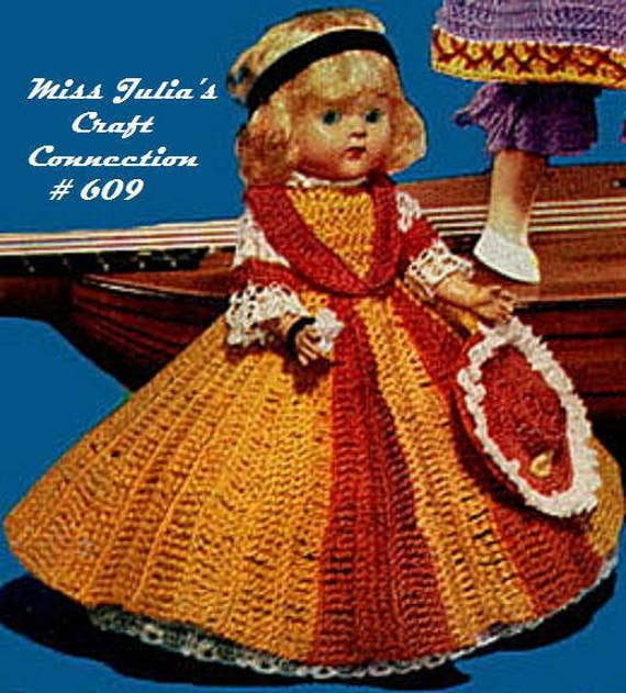 Almost FREE Vintage 1952 Miss South Carolina Doll 609 PDF Digital Crochet Pattern