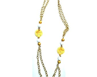 Chain necklace for women, chain necklace with beads, christmas gifts jewelry, christmas ideas for mom, fashion jewelry necklaces, cheap