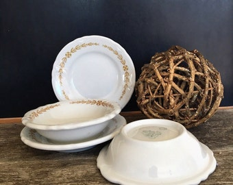 Vintage Shenango China - White Incaware  Serving Dishes - Vintage Restaurantware - Shenango Dishes