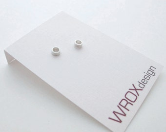 Open Circle Studs, Circle Earrings, 4 mm Circle Studs, Small Sterling Studs, Minimal Earrings, O Studs, Sterling Silver Circle Earrings