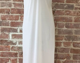 Sheer Long White Slip - 1950s Chemise
