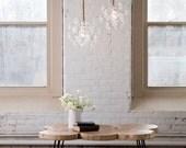 """The 18 Bubble Chandelier (13"""" diameter) • Custom Cord Options • LED lighting • Ceiling Light • Bubble Light • Pendant Light"""