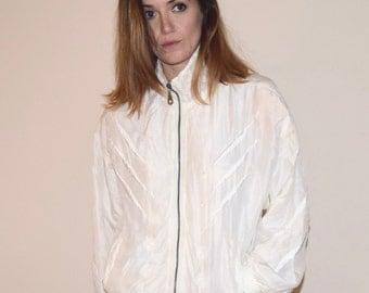 SALE Vintage 80s Silk Jacket // Women's Medium // Coaco // Windbreaker