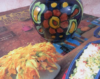 Vintage Miniature Pottery Vase Mexico Pottery Folk Art Bud Flower Vase Home Decor Boho Style