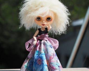 Isobel • Custom Blythe Doll OOAK   carved, custom blythe doll, lambskin skinnyscalp, blonde Blythe doll, collectible blythe, one of a kind