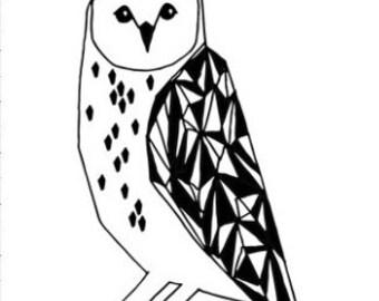 Throw Pillow Owl. Hedwig Owl. Owl Plushie. Baby Bedding. Decorative Pillow. Throw Pillow. Nursery Pillow. Snowy Owl Pillow. Plush Owl.
