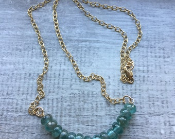 14K Gold filled and Apatite Necklace