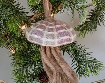 Christmas Ornaments, Jellyfish, Jellyfish Ornaments, Sea Urchin, Sea Urchin Ornaments, Beach Christmas, Seashell Ornaments, Beach Decor