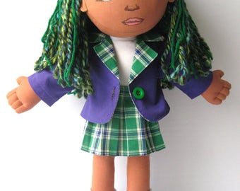 Light brown skin cloth doll