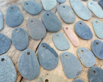 Tiny Drilled Flat Beach Stones, 50pcs, Flat Beach Pebbles, Stones For Crafts, Greek Pebbles, Pebble Pendants, Pebble Beads, Top Drilled