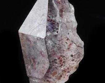 2.6cm AMETHYST & SMOKEY QUARTZ Crystal with Hematite from Karur, India - Raw Amethyst Crystal, Raw Quartz, Raw Crystal, Healing Crystal 4443