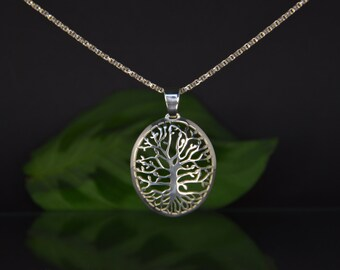 "Openwork pendant, hand-cut ""Silver tree"""
