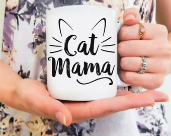 Cat Mama | Cat Mug, Cat Lover, Funny Cat Mug, Crazy Cat Lady, Cat Mom Mug, Crazy Cat Mom, Cat Owner Gift, Cat Obsessed, Kitty Mug