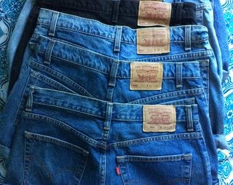 Authentic LEVIS 504/560 Cut off Shorts LARGE SIZES (12-18)