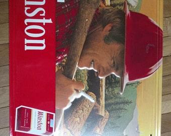 Winston Cigarettes Lumberjack Metal sign Advertising