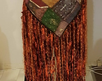Tribal fusion handmade hip scarf