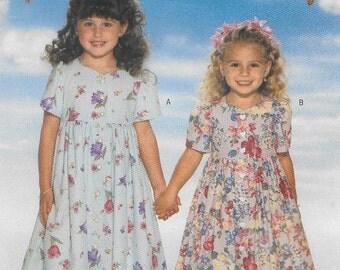 Toddler Girls Dress & Pantaloons Size 2 3 4 Uncut Sewing Pattern 1990s