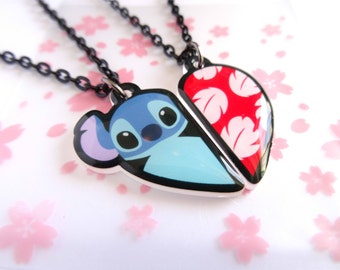 Lilo and Stitch BFF Necklace Set