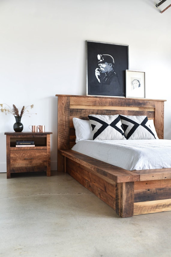 reclaimed wood platform bed 17026 | il 570xn 1187205291 cpt9