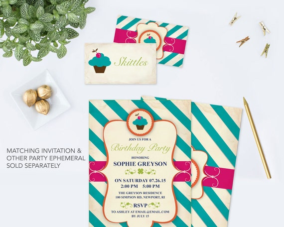 editable food tent card pdf editable text template birthday party