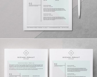 resume template _ 4pk resume template for ms word iwork pages _ clean resume design