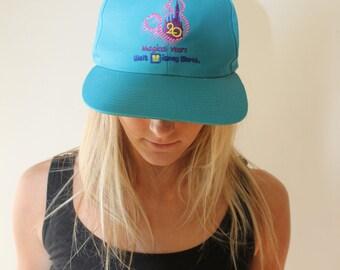 Vintage 20 Magicial Years Walt Disney World turquoise snapback hat