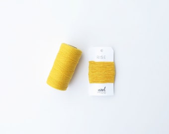 Bakers Twine - RISE / Yellow, Bright, Natural Cotton, 4 Ply, Solid Twine, Packaging, Wrapping, Gift Giving, Birthday, Divine Twine, 20 Yds