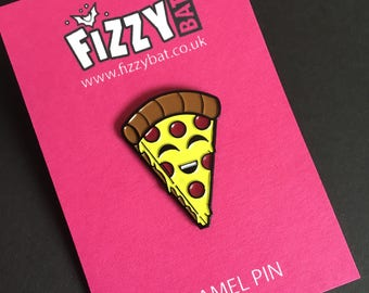 Pizza Pin, Soft Enamel Pins, Lapel Badge, Brooch Lovers, Foodies Flair, Cute Gift, Gift's For Friend, Food Lover, Pepperoni Pizza Slice