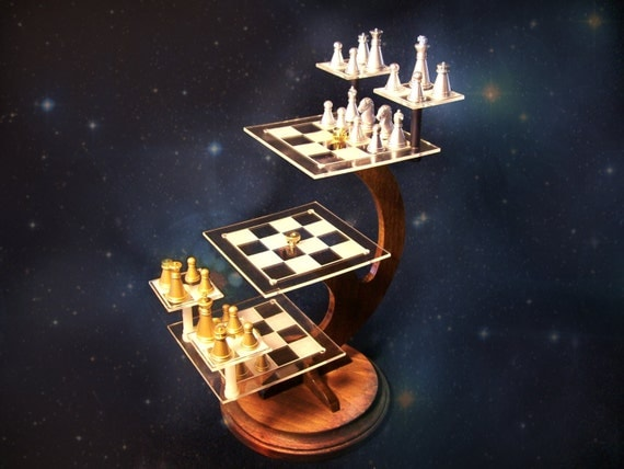 Tri d chess set model 002 economical by tridesigncreations - Tri dimensional chess set ...