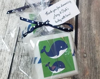 Whale Baby Shower favors soaps, Nautical Baby Shower Favors, Whale Birthday Party, Birthday Favors, Girl Whale Shower, Boy Whale Shower